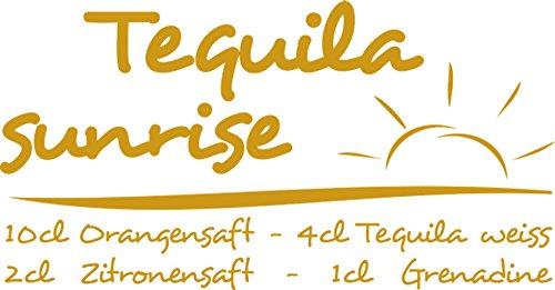 Tattoo Muursticker Muurdecoratie Stickers Keuken Recept Tequila Zonsopgang Zon