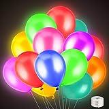 FEALING LED Luftballons,50 Stücke Led Ballons,Bunte Leuchtende Luftballons,Bunt Schöne Ballons für Hochzeit Weihnachten Partyballons,Latex Ballons,Hochzeitsballons