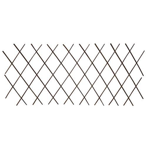Tidyard Recinzione A Traliccio Estensibile In Salice 5 Pz,Recinzione Giardino Legno,Traliccio Per Rampicanti Legno,Steccato In Legno Per Giardino,Traliccio Estensibile Legno 180X60 Cm