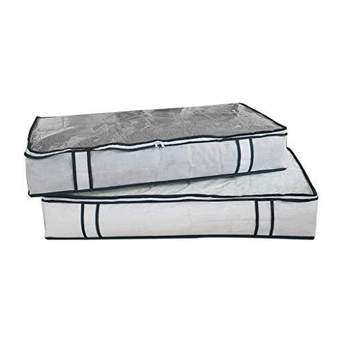 SMEJS Caja de almacenamiento para debajo de la cama, organizador de PVC no tejido, para ropa, mantas, zapatos