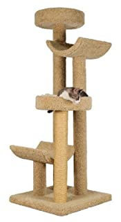 """Molly and Friends """"Step Stool Sleeper Premium Handmade 4-Tier Cat Tree with Sisal, Model 2323, Beige (B000OSNYKG) 