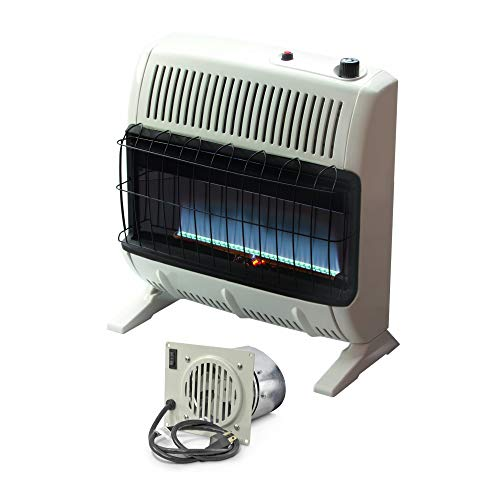 Mr. Heater 30,000 BTU Vent Free Blue Flame Natural Gas Heater (1000 sq.ft. Range) with Blower Fan Kit