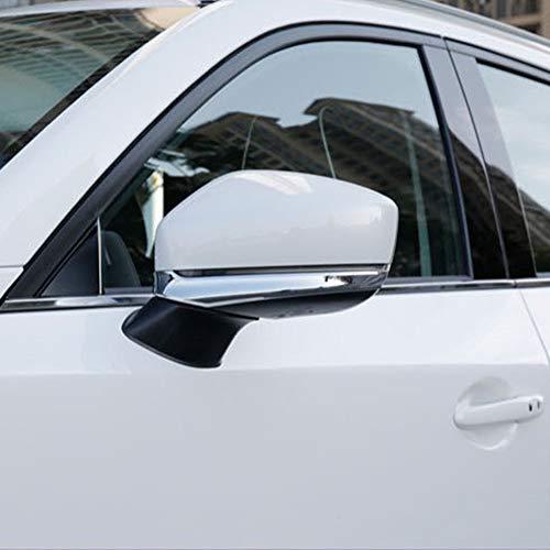 Kadore para Mazda CX-5 CX5 2017-2020 Cromado Lateral Espejos retrovisores Cubierta de la tira Ajuste Decoración Rayas Adornos 2pcs