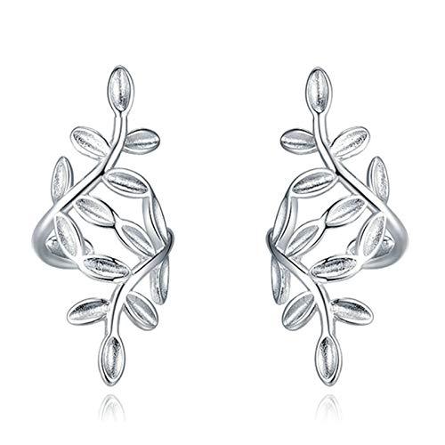 Daesar Women Earrings Silver, Silver Plated Earrings For Women Leaves Elegant Earring Silver
