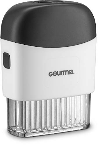 Gourmia GMT9365 Meat Tenderizer –48 Professional FoodGrade Blades with Clear Base – Detachable Compartments for Easy Cleaning Ergonomic Grip – Helps Reduce Cooking and Marinating Time