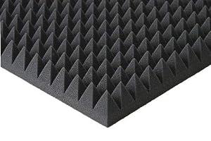 Pyramiden -Schaumstoff SELBSTKLEBEND- Flammhemend MVSS302 Schallschutz-Schaumstoff Noppenschaum (Mit Selbstklebend, ca. 50x50x5cm)