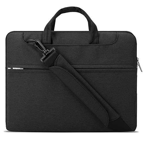 "Lacdo 15.6 Inch Laptop Shoulder Bag Sleeve Case for 15.6"" Acer Aspire 5 E 15, Predator Helios 300, Flagship/ASUS VivoBook 15, TUF FX505 / Dell Inspiron 15 / Lenovo IdeaPad/HP Pavilion, Envy, Black"