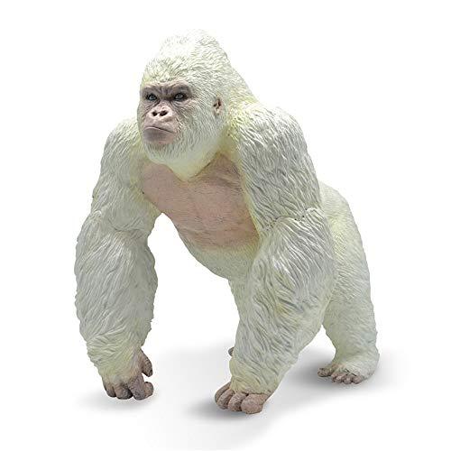Gorilla Albino Giocattoli di King Kong - Grande Modello Realistico di figurina di Animale Selvatico...