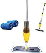 Yocada Microfiber Spray Mop with 2 Washable Mop Pad for Hardwood Ceramic Marble Tile Laminate Home Kitchen Floor Cleaning Wet and Dry Easy Wring 600ml
