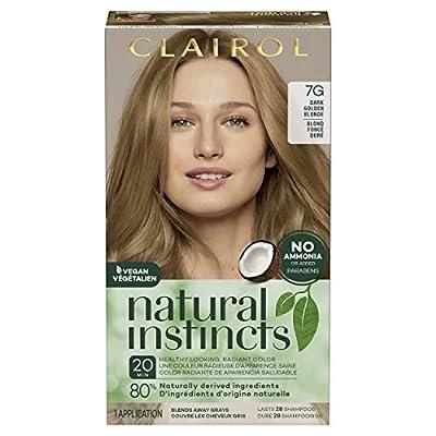 Clairol Natural Instincts Semi-Permanent, 7G Dark Golden Blonde, Golden Honey, 1 Count
