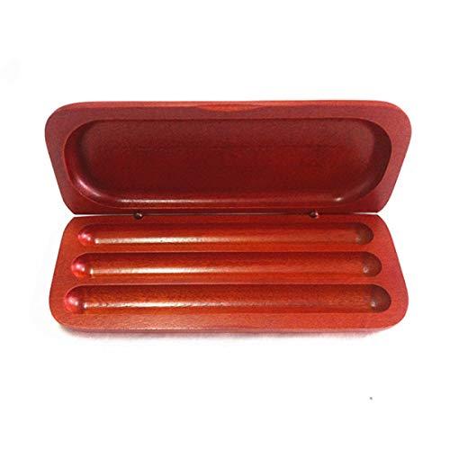 ILS – 3 ranuras pluma estilográfica de madera Fountain Display funda almacenamiento colector organizador caja