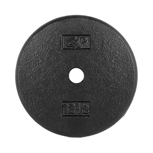 CAP Barbell Standard Weight Plate, 1-Inch, Black (12.5-Pound (Set of 2))