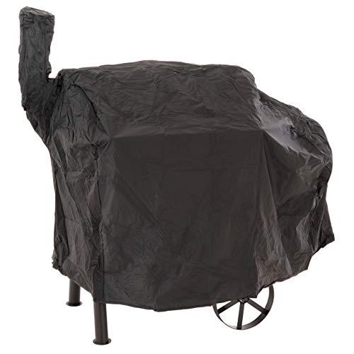 Nexos Schutzhülle für Smoker Abdeckung Wetterschutz Plane Cover 120g PVC schwarz pflegeleicht Haube Grillabdeckung 130 x 60 x 100cm wasserdicht