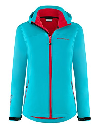 Black Crevice Damen Softshelljacke, blau/Rot, Gr. 40