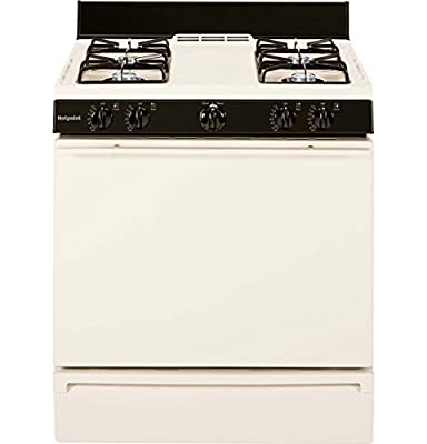 Hotpoint RGB508PEFCT 30 In. 4.8 Cu. Ft. Free-Standing Gas Range, Bisque
