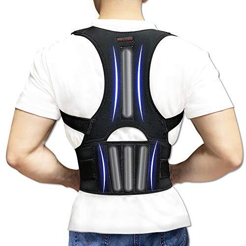Back Brace Posture Corrector - Back Support Belt with Fully Adjustable Straps Relief Lower &...