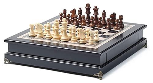 Juego de ajedrez de ajedrez de ajedrez Juego de Mesa de ajedrez con Almacenamiento portátil de Almacenamiento de tareas de ajedrez de Viaje (Size : 37.5x38.5cm)