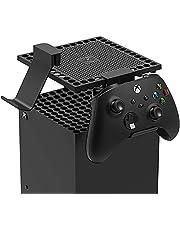 Xbox Series X用放熱防塵カバー,コントローラーホルダー,ヘッドセットホルダー,コントローラースタンド ヘッドセットハンガーフック 異物侵入防止 汚れ防止 収納 取り付け簡単 丈夫 XboxシリーズX専用アクセサリー