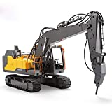 PBTRM 1:16 Excavadora Teledirigido 3 En 1 2.4G RC, Juguete Electrica Vehículos Construcción Totalmente Funcional para Niños