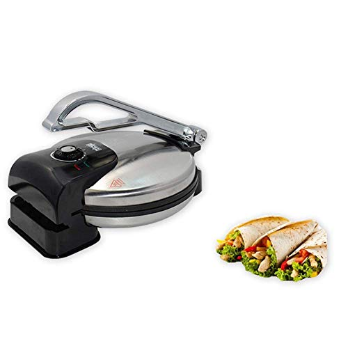 XMYL 1600W Crepe Maker, Electric Baking Pan for Making Pizza Sandwich Pancake Spring Roll Burrito, Non-Stick Baking Tray, Easy To Clean