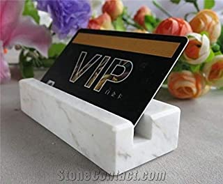 Frescorr(TM) - Marble Professional Business Card Holder, Stand Desk Cards Display Holder for Home and Office (Normal)