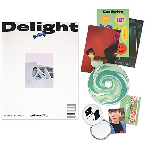 EXO BAEKHYUN 2nd Mini Album - Delight [ MINT ver. ] CD + Booklet + Folded Poster(On pack) + Postcard + Message Card + Sticker + Photocard + OFFICIAL POSTER + FREE GIFT / K-POP Sealed