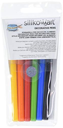 Silikomart 99.011.99.0001 - Set de 6 marcadores de alimentos, 6 paquetes