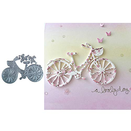 litty089 - Utensile da taglio, per tagliare la bicicletta, fai da te, scrapbooking, goffratura, carta, un colore, argento