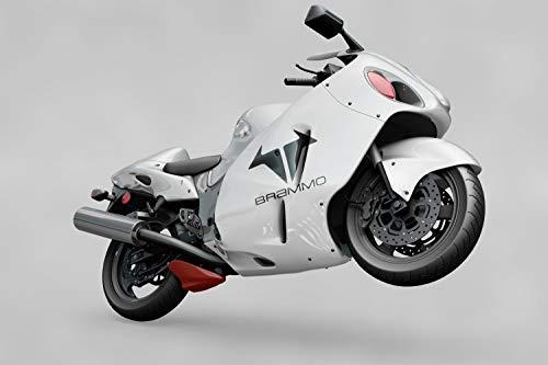 myrockshirt Motorrad Seitenaufkleber Brammo Logo Aufkleber Sticker Decal Profi-Qualität ohne Hintergrund Bike Tuning