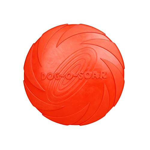 XUANLAN Haustiere Hund Rrubber Outdoor Training Welpen Flying Discs Hund Fetch Toy Haustier Hund Flying Disc Tooth Resistant Training Spielzeug (Color : Red, Größe : L)