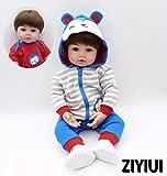 ZIYIUI 55 cm 22 Zoll Reborn Babypuppe Junge Realistische Reborn Baby Doll Boy Handgemacht...