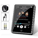 MP3プレーヤーBluetooth5.0 全面液晶タッチパネル 2.8インチ 音楽プレーヤー 超軽量HiFiロスレス音質 mp4プレーヤー FMラジオ スピーカー内蔵 32GB内蔵 128GBまで拡張可能 日本語説明書付き (32GB)