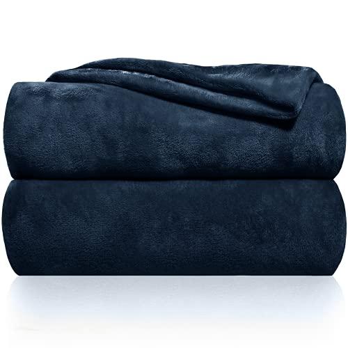 Gräfenstayn® Kuscheldecke flauschig und super weich - hochwertige Fleecedecke auch als Wohndecke, Tagesdecke, Sofadecke und Wohnzimmer geeignet - Überwurf Decke Sofa und Couch (Blau, 200x150 cm)