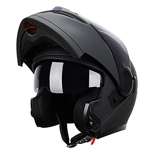 RMBDD Motocicleta Casco Modular De Dot/ECE Cascos Integrales Casco Siéntase Libre de Cambiar Todas Las Estaciones Buena Permeabilidad al Aire Adultos Unisex (59~64CM)