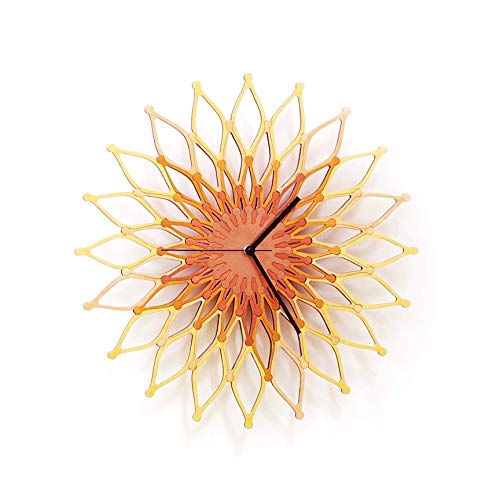 16' / 23½' Large Handmade Sunburst Clock Made of Laser Cut...