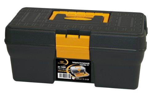 Art Plast 5400/1 Mallette porte-outils en plastique, noir/jaune