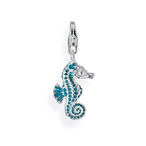 Heartbreaker Damen- Charm Seepferdchen mit Brandlack in 925 Sterling Silber HB 133