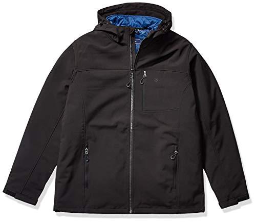 IZOD Men's Big & Tall 3-in-1 Soft-Shell Systems Jacket, Black, XLT
