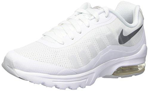 Nike Air Max Invigor - Scarpe da corsa Donna, Bianco (White/metallic Silver), 41 EU