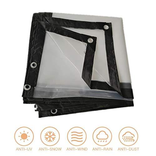 F-S-B helder dekzeil balkon afdekzeil blad bodemblad overkapping tent met tuiten 120G / m2 afdekking gereedschap