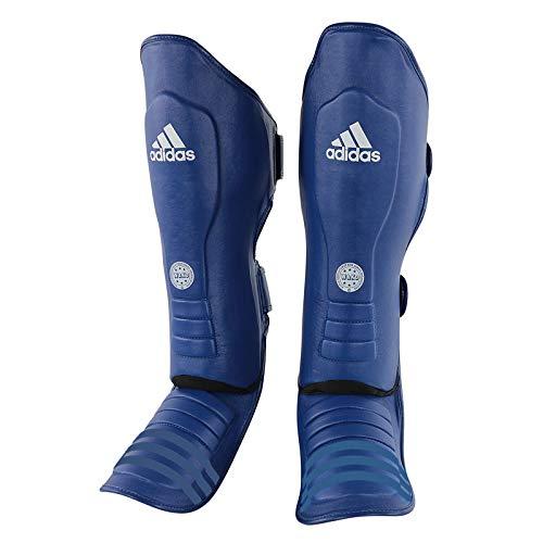 adidas Unisex– Erwachsene WAKO Super-Pro Shin-n-Step Schienbeinschoner, Fußschutz, blau, XL