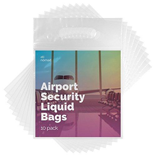 Ati Nomad - Bolsas de aseo para equipaje de mano (apta para la seguridad en el aeropuerto) (10 unidades)
