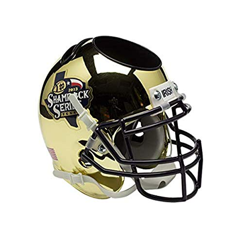 NCAA Notre Dame Fighting Irish Football Helmet Desk Caddy, Shamrock Series 2013 Alt. 6, Mini