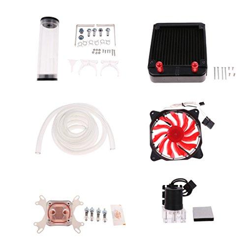SDENSHI Pc Líquido de Refrigeración por Agua Radiador Kit Bomba de Depósito CPU Gpu Bloques Disipador de Calor - El 120cm