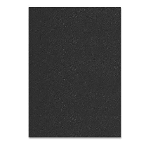 Schwarz, A4 300 g/m² Farbige Papier Karton, 50 Blatt