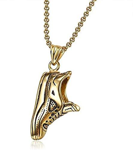 quanjiafu Halskette Sportschuhe Anhänger Halskette Schmuck 316L Edelstahl Gold Farbe Harz Laufschuhe Halskette Für Männer Halskette