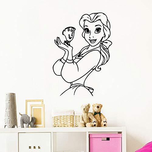 zhuziji Seashell Wall Stickerscartoon Schneewittchen Naturenordic Schlafzimmer, Campus, Kindergarten mit Vinyl Pvc64X90Cm