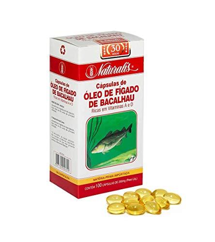 Óleo de Fígado de Bacalhau 100 Cápsulas Naturalis