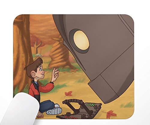 Tappeto da mouse, The Iron Giant, il gigante di ferro, tappetino per mouse antiscivolo a base di gomma, 24 x 20 cm