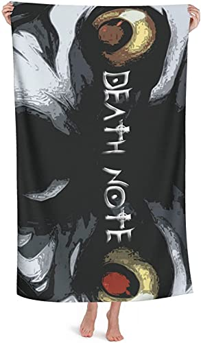 H-LIFE Toalla de playa XXL Death Note de 2,100 cm x 200 cm